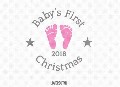 Baby's First Christmas Ornament Svg Free  – 487+ File SVG PNG DXF EPS Free