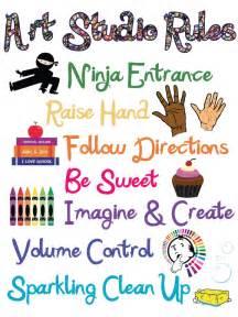 Elementary Art Classroom Rules