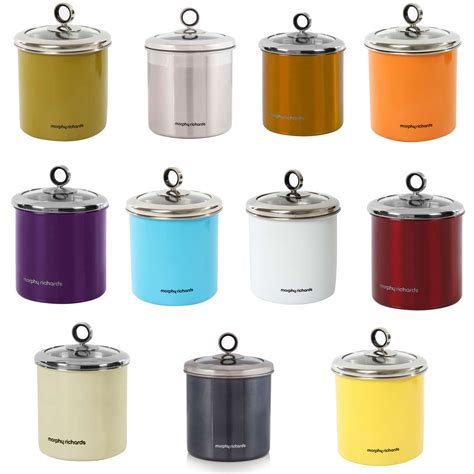 kitchen storage canister morphy richards 1 7 litre stainless steel large kitchen