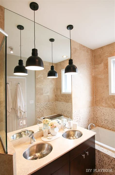 Pendant Lighting In Bathroom by Contemporary Pendant Lights In Our Master Bathroom The