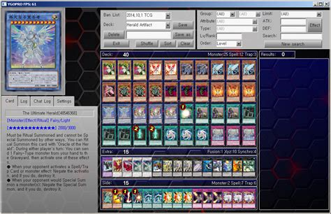 yu gi oh ygopro deck herald artifact by ygopropro on