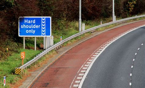 motorway bus lane sign dunmurry  albert bridge geograph ireland
