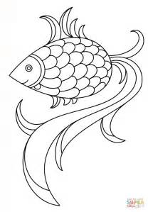 cartoon fish coloring page  printable coloring pages