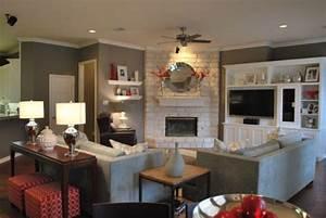 arranging living room furniture with corner fireplace and With furniture placement in living room with corner fireplace