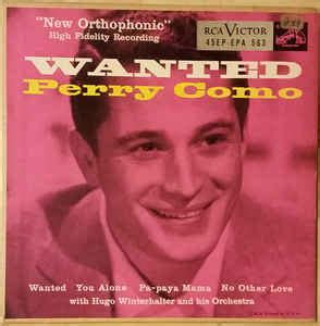 perry como wanted perry como wanted vinyl at discogs