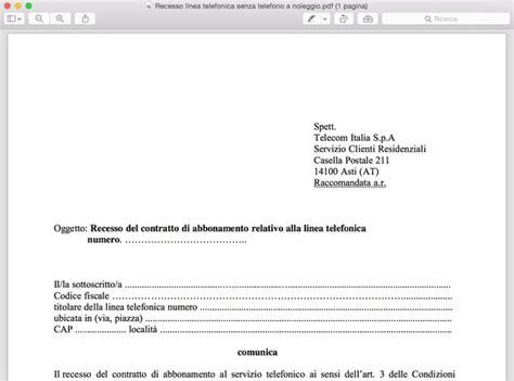 fax ufficio reclami telecom come recedere contratto telecom salvatore aranzulla