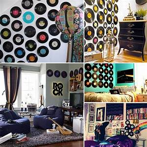 vinyl record wall art things to diy pinterest record With best brand of paint for kitchen cabinets with brooklyn bridge metal wall art