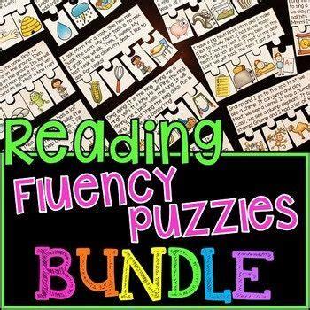 reading fluency passages puzzles bundle  images