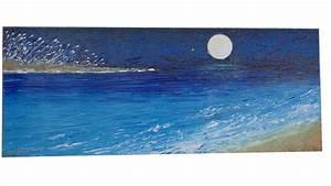 Luna sul mare con stella 2 Vendita Quadri Online Quadri moderni Quadri astratti Quadri