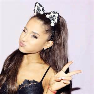 grande cat ears a on quot arianalarge grande wearing cat