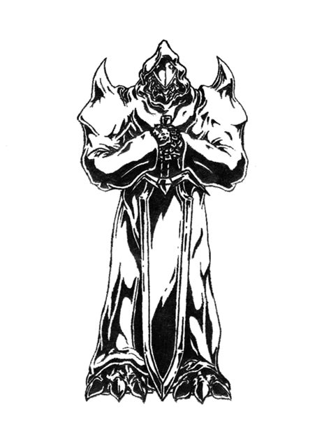 Demon knight black and white by RtotheYO on DeviantArt