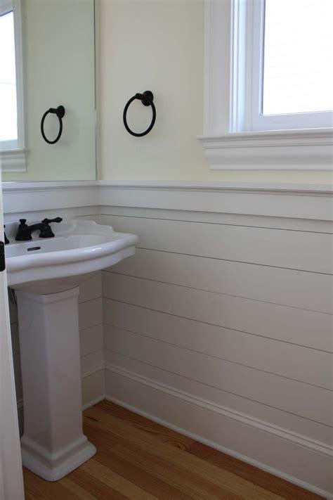 Bathroom With Wainscoting Cool White Bathroom Vinyl