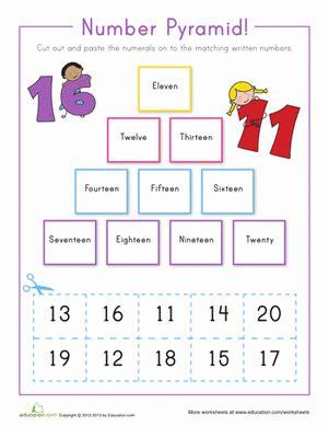 number pyramid 11 20 worksheet education com