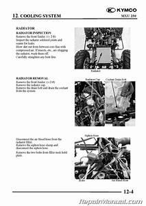 Kymco Mxu 250 Atv Printed Service Manual