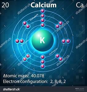 Illustration Element Calcium Stock Vector 152410280