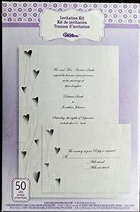wilton 50 ct wedding invitation kit hearts arts With wilton wedding invitation printing problems