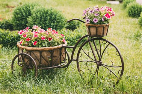 creative bathroom ideas bicycle flower planters for the garden or yard