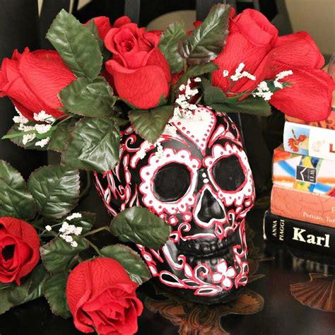 sugar skull vase     vase pot  planter