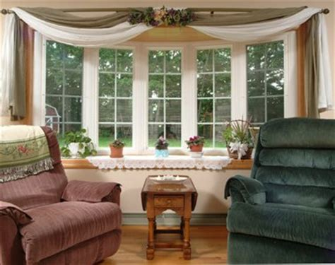 Window Treatments For Bow Windows 2017  Grasscloth Wallpaper