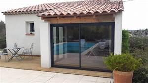 pose de vitrage coulissant en verre pour fermeture de With comment fermer sa terrasse