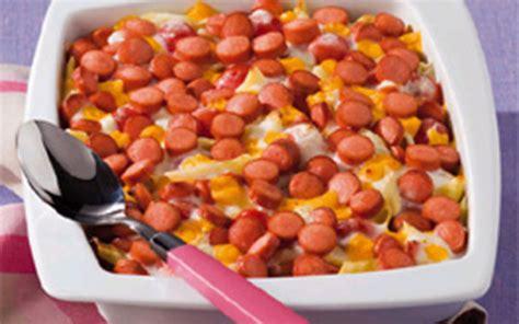recette p 226 tes aux knackis pas ch 232 re et simple gt cuisine 201 tudiant