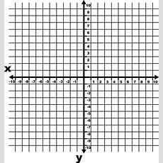 10 To 10 Coordinate Grid With Increments And Axes Labeled And Grid Lines Shown  Clipart Etc