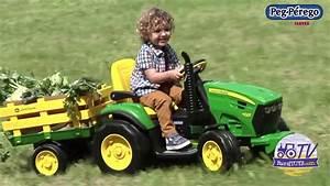 Tractor El U00e9ctrico John Deere Con Remolque Para Ni U00f1os