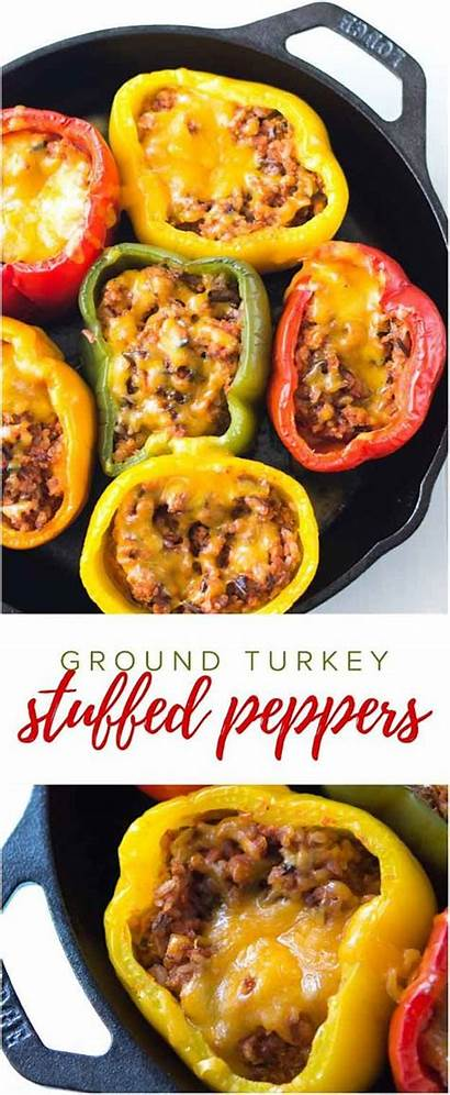Dinner Healthy Recipes Ground Turkey Peppers Stuffed