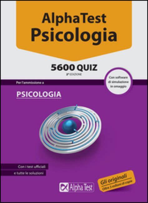 alpha test psicologia 5600 quiz con software di
