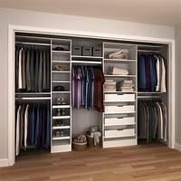 home depot closet organizer Modifi 15 in. D x 180 in. W x 84 in. H Melamine Reach-In Closet System Kit in White-ENRI90-180 ...