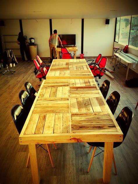 mesa larga comedor oficina de madera reciclada