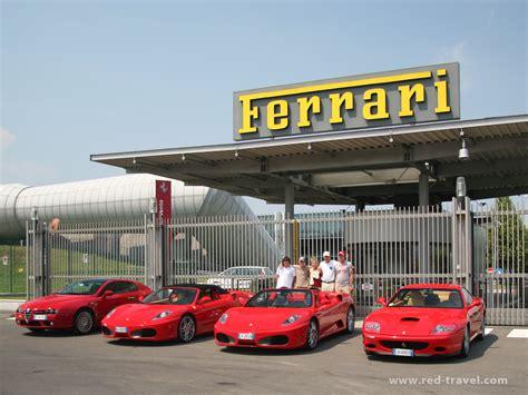 ferrari factory red travel tour ferrari f430 spider 575 m maranello