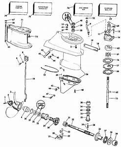 Evinrude Gearcase Parts For 1990 28hp Ve28eslesm Outboard