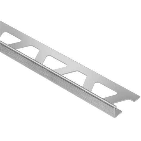 schluter tile trim pieces shop schluter systems schiene edge trim 1 2 in brushed