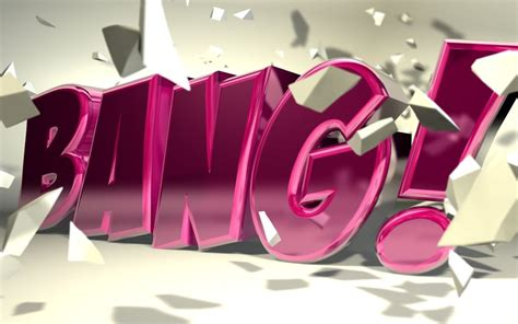 c4d bang typography by b4ddy on deviantart
