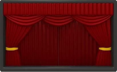 Curtains Open Theater Border Bergerak Animasi Powerpoint