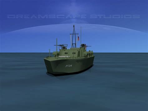 Pt Boat Elco by 3d Model Elco Pt Boat Pt 34 Vr Ar Low Poly Rigged Max