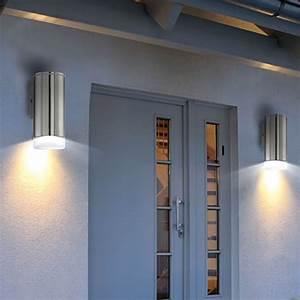 Fassadenbeleuchtung Außen Led : led wand leuchte strahler akzent beleuchtung au en lampe eek a licht eglo 78046 kaufen bei ~ Markanthonyermac.com Haus und Dekorationen