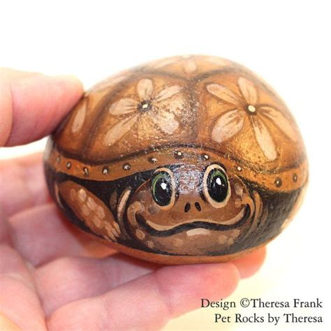 62 Best Painted Stones Tortoises And Turtles Images On