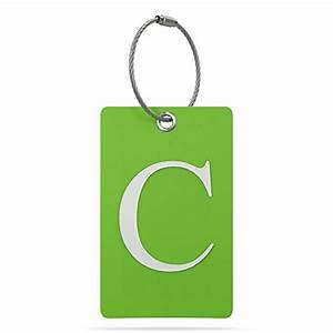 luggage tag initial fully bendable tag w stainless With letter luggage tags