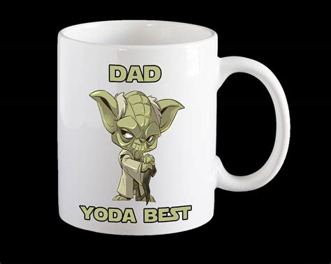 【creative】when the color changing ceramic mug is poured with hot liquid, there will be a magic color changing pattern of fight yoda baby mandalorians. Yoda Best Dad coffee Mug Star Wars Yoda Mug for Dad Funny   Etsy