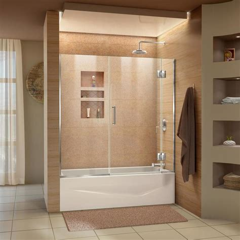 Tub Shower Door by Dreamline Unidoor X 58 In To 58 5 In W Frameless Chrome