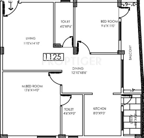 1125 Sq Ft 2 Bhk 2t Apartment For Sale In Eternity