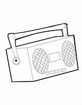 Coloring Pages Stereo Radio Players Colorare Results sketch template
