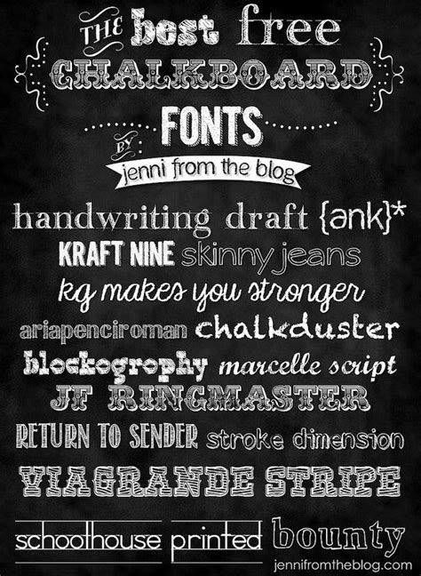 chalkboard font   otf ttf format