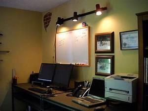 Office track lighting office decor pinterest for Office track lighting