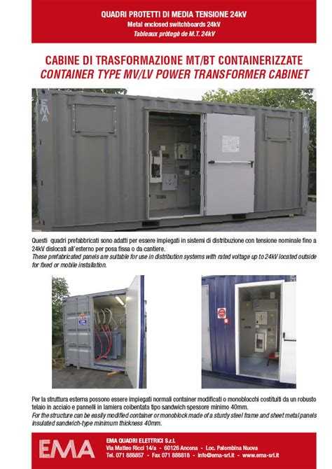 cabine mt bt cabine mt bt containerizzate categoria cabine