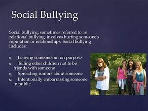 PROBLEMS OF WELL-BEING - BULLYING