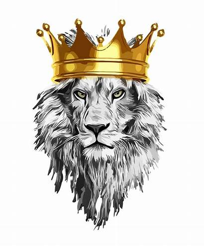 Lion Crown King Power Framed Society6
