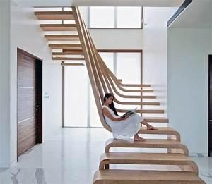 image gallery escalier moderne With peindre rampe escalier bois 13 le design des escaliers contemporains bricobistro